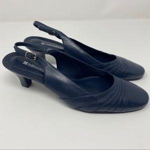 NEW Naturalizer Navy Blue Slingback Kitten Heels